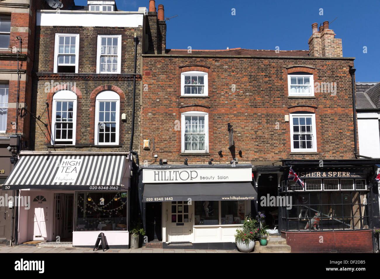 Highgate Village High Street - North London - Stock Image
