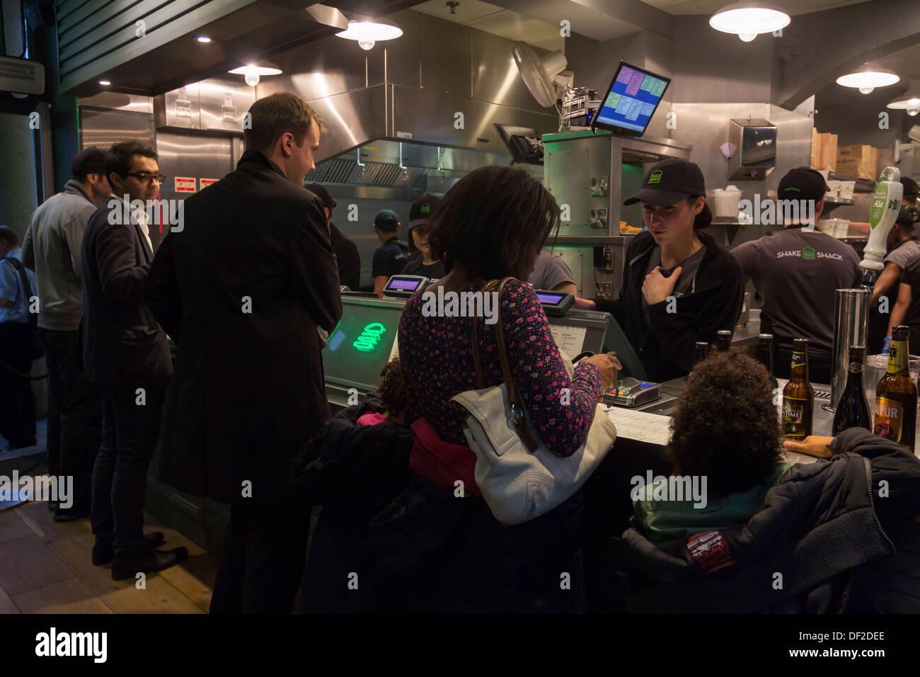 Shake Shack Burger Restaurant - Covent Garden - London - Stock Image