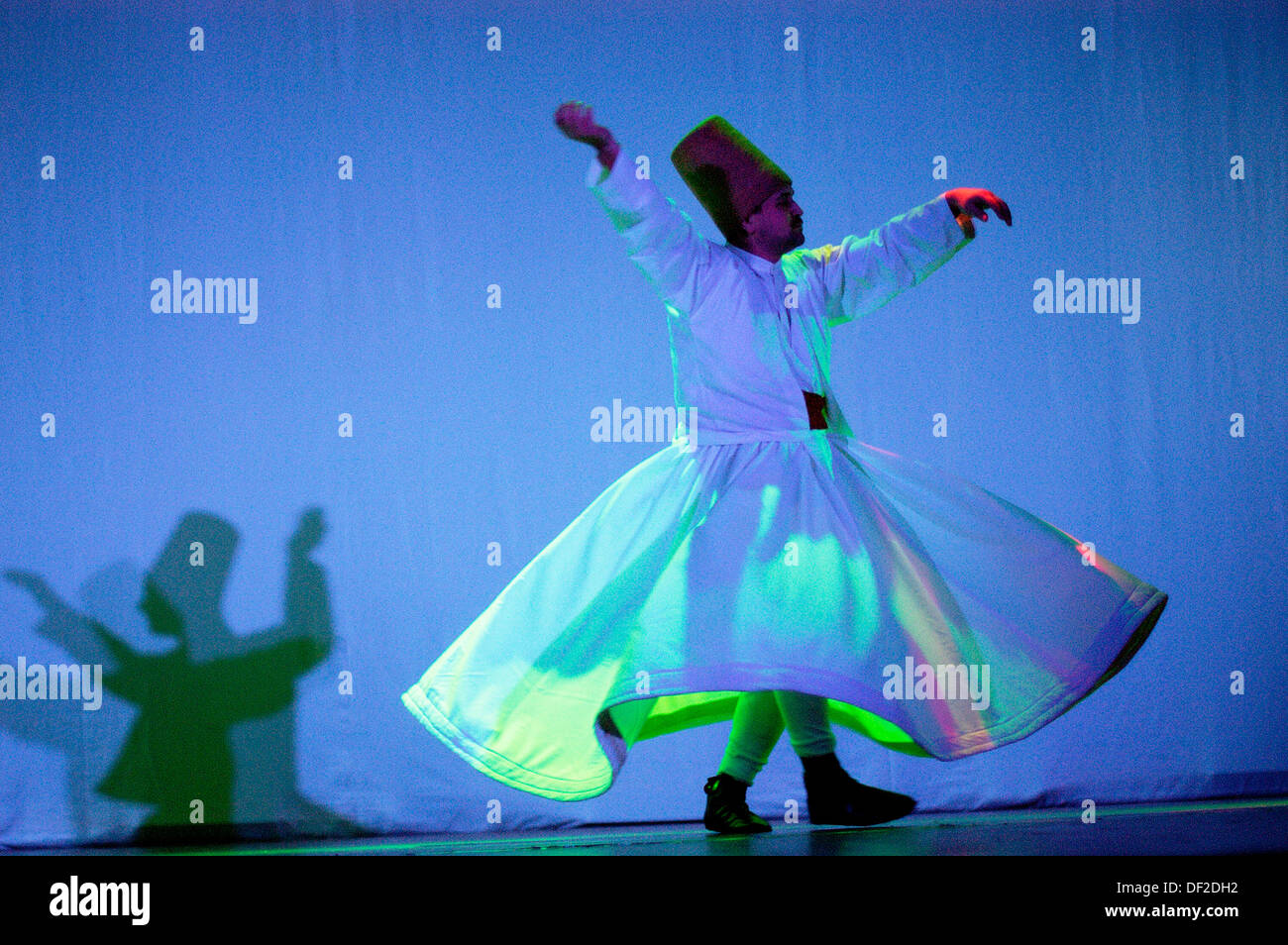 Dervish whirling and dancing. Turkey - Stock Image