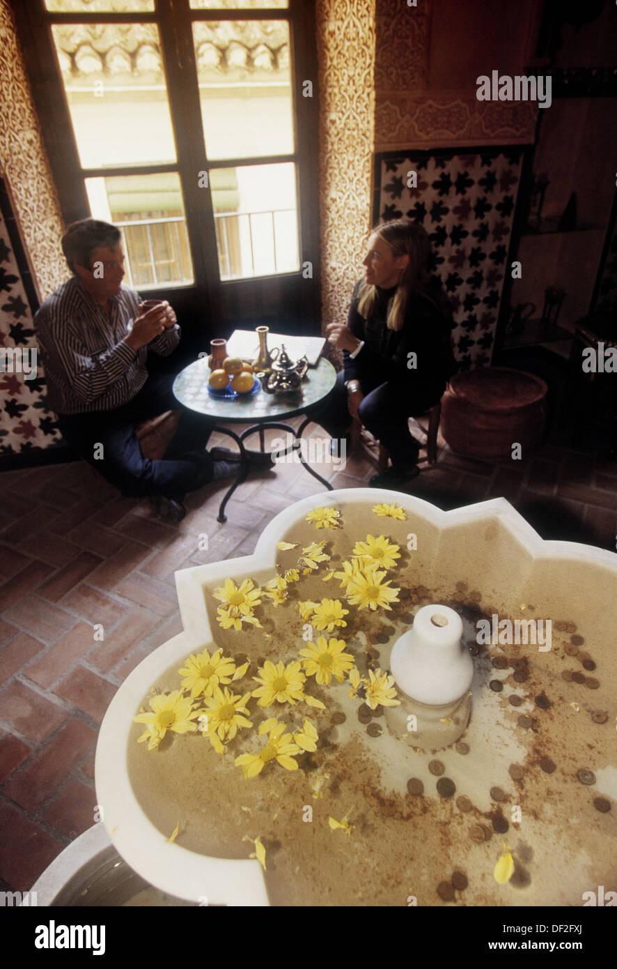 At the ´Teteria´ (Tea room) of the Moorish baths at Granada. Andalucia. Spain. Stock Photo