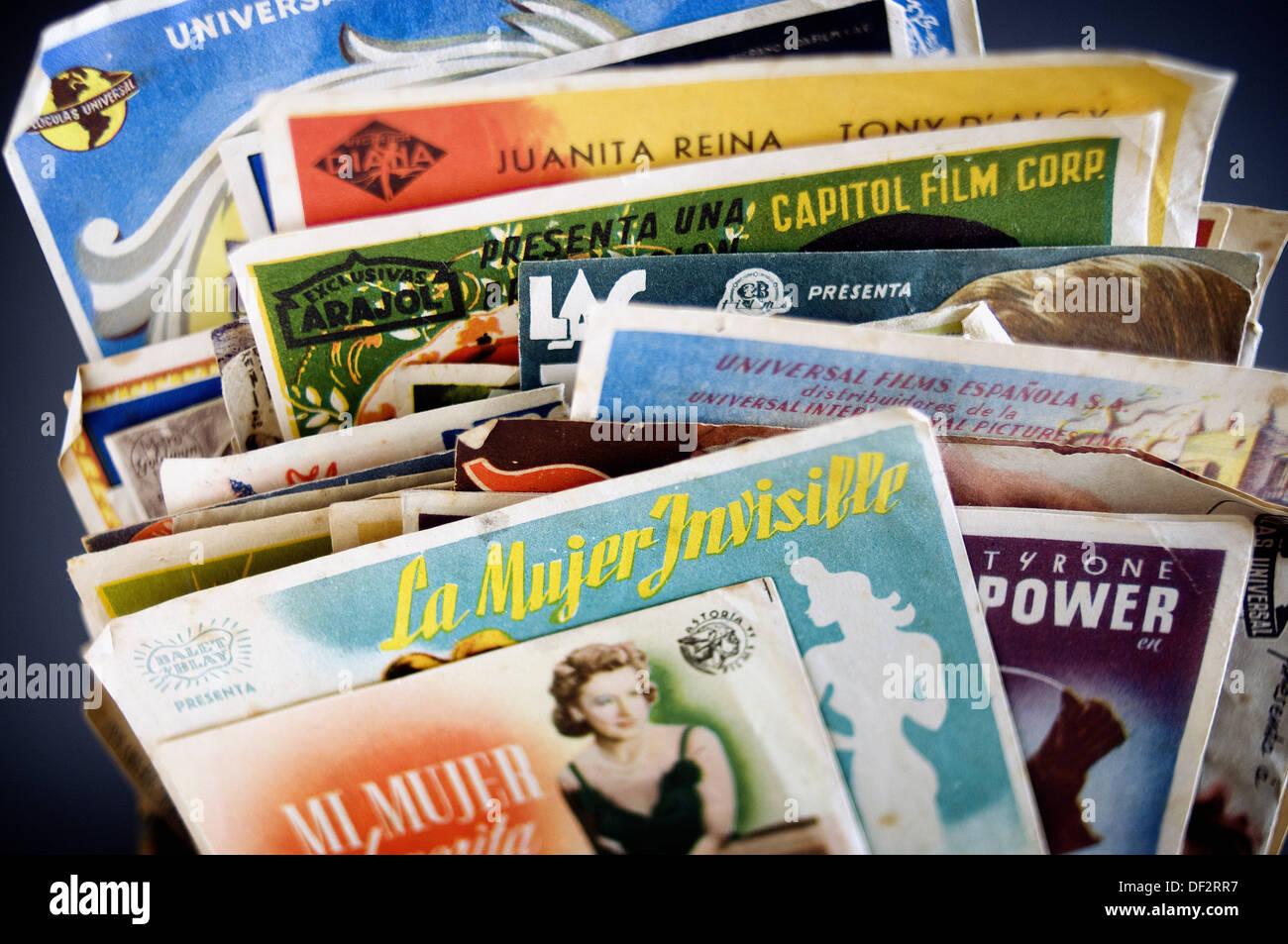 Old film programs - Stock Image