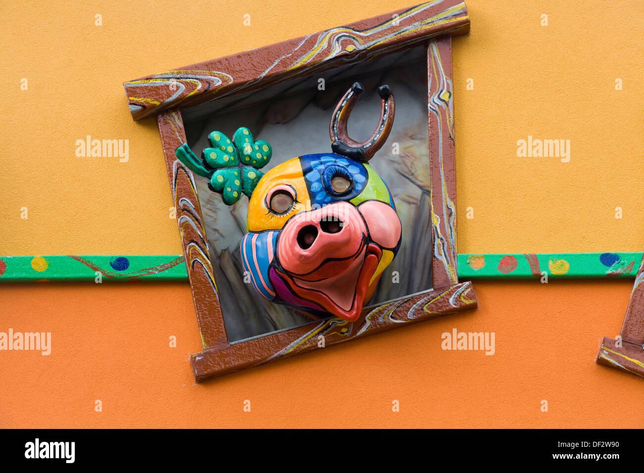 The Wiener Prater  Wurstelprater amusement park Vienna - Stock Image