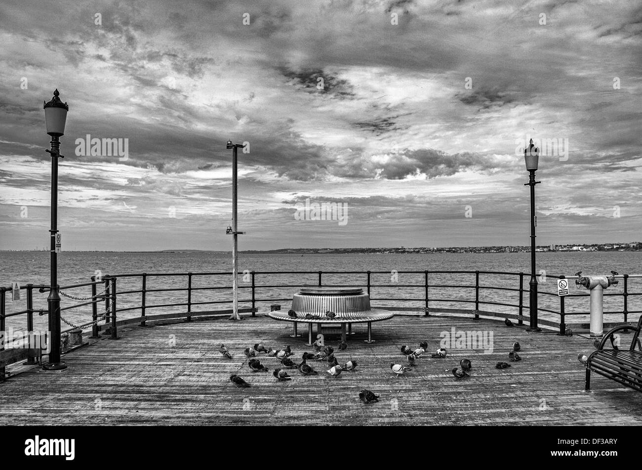The End of Southend Pier - Stock Image