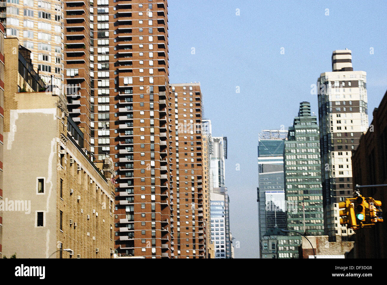 42nd Street in Manhattan between 11th and 12th Avenue. New York City. USA - Stock Image