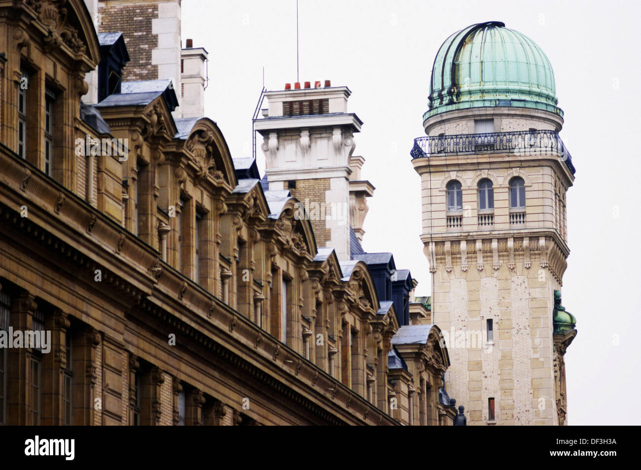 Tower with Observatory at the Sorbonne University. Paris. France - Stock Image