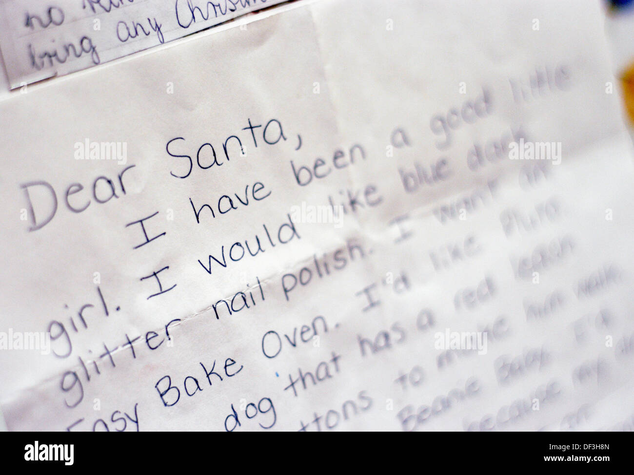 Close up of letter to santa claus north pole alaska usa stock close up of letter to santa claus north pole alaska usa spiritdancerdesigns Image collections