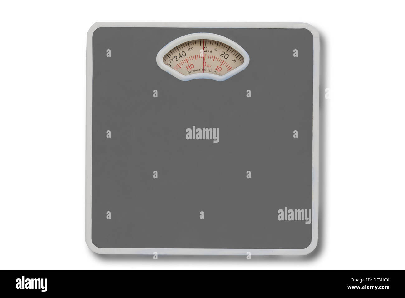 analog analogue background balance bath bathroom black blue calorie care control dial diet dieting exercise fat fit funky health - Stock Image