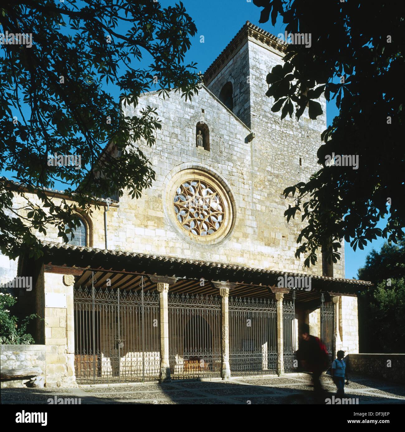 Collegiate church, Covarrubias. Ruta del Cid, Burgos province, Castilla-Léon, Spain - Stock Image