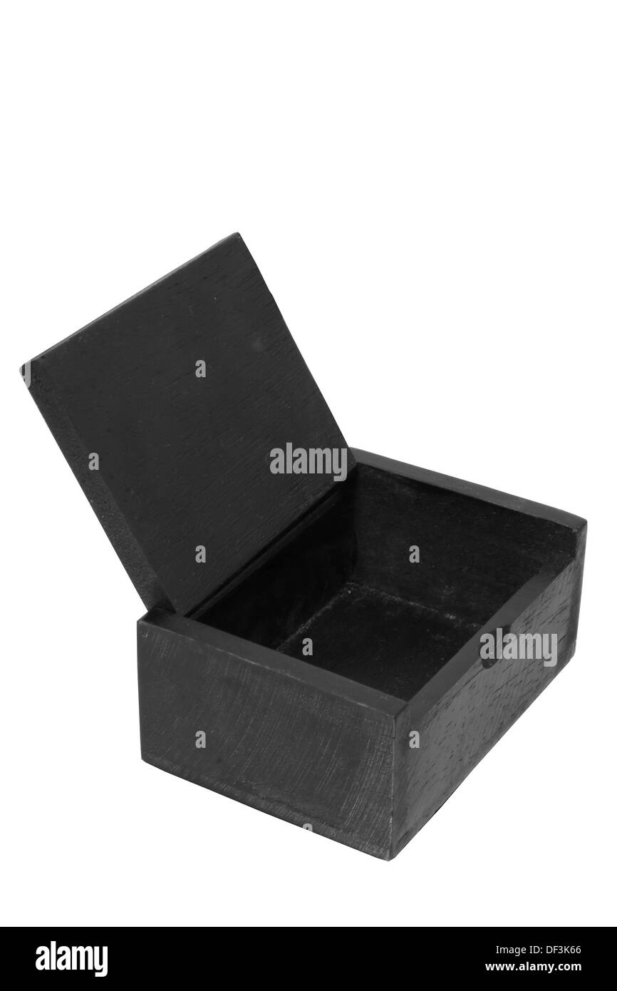 aged antique background black box brown business case chest close color concept container crate cut decoration decorative wood - Stock Image