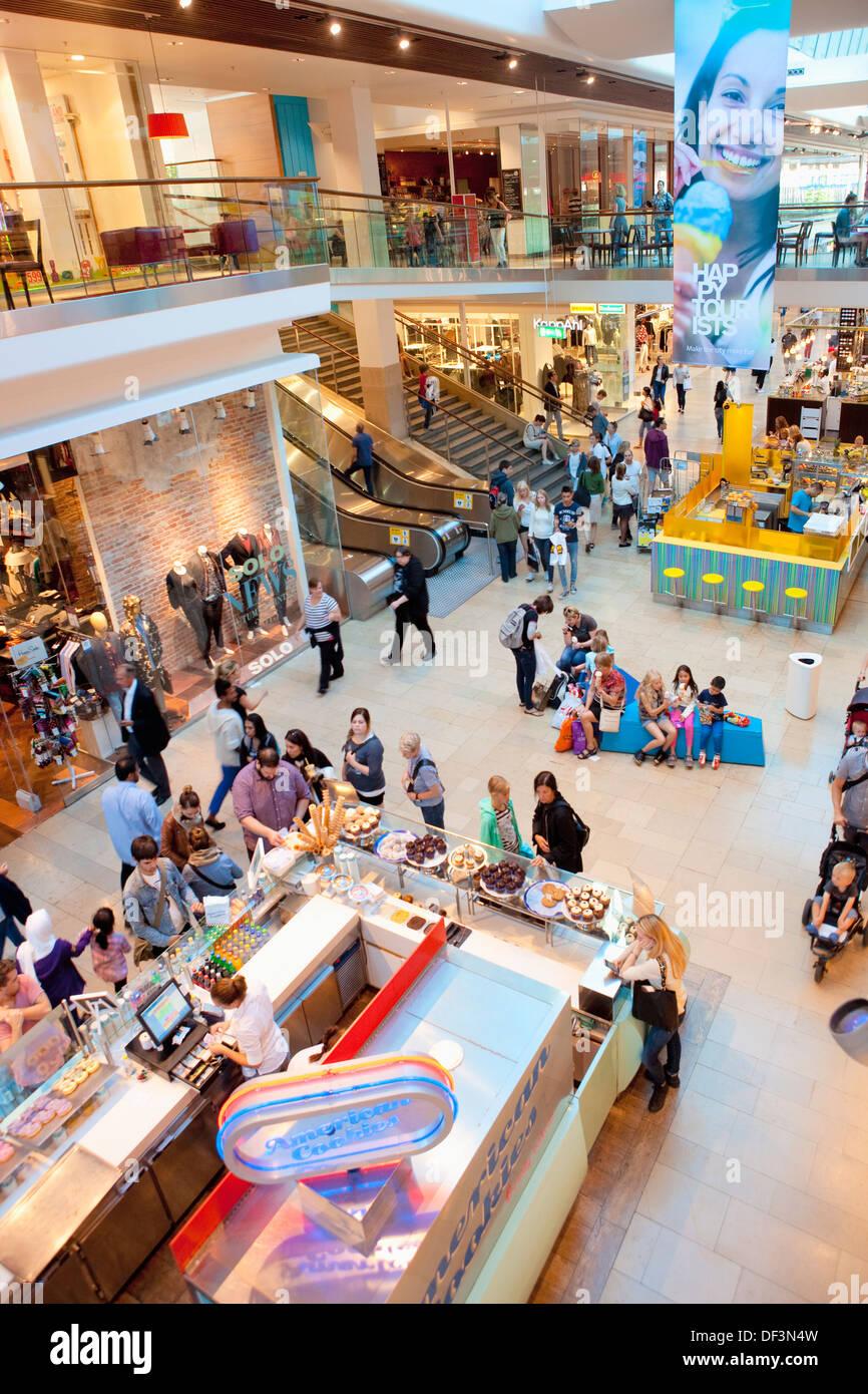 Sweden, Stockholm - Gallerian shopping mall - Stock Image