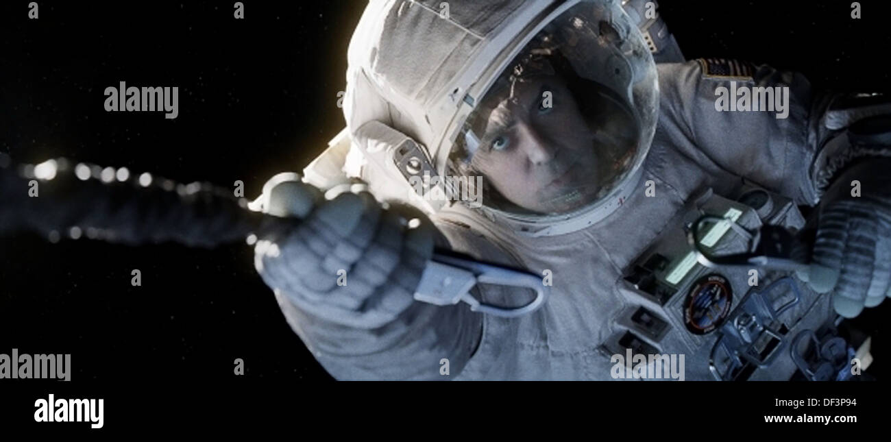 GRAVITY (2013) GEORGE CLOONEY ALFONSO CUARON (DIR) MOVIESTORE COLLECTION LTD - Stock Image