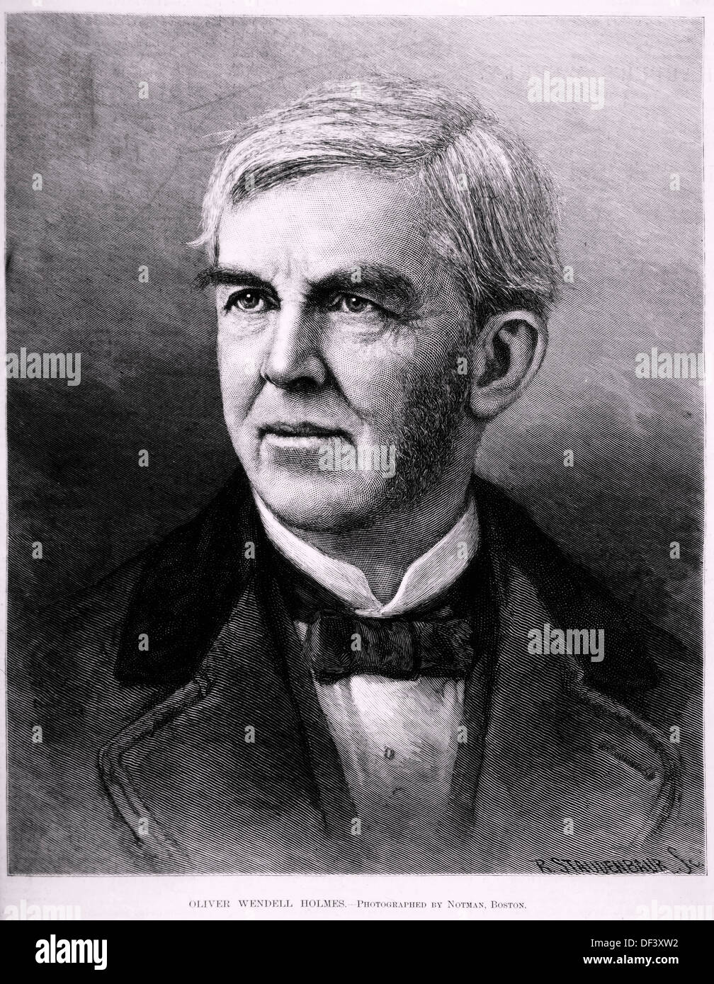 Oliver Wendall Holmes (1809-1894), American Poet and Author, Portrait - Stock Image
