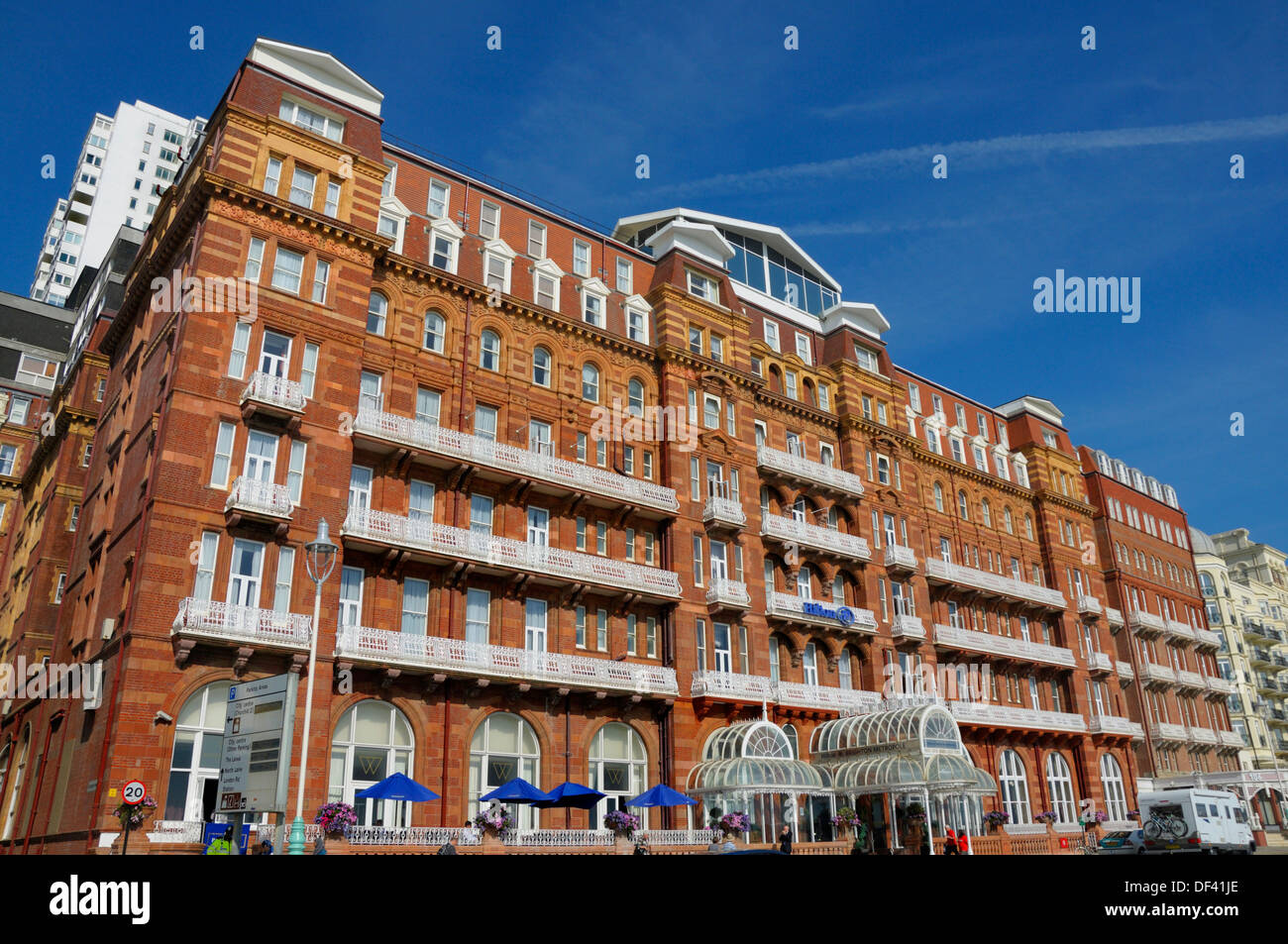 Brighton, East Sussex, England, UK. Hilton Brighton Metropole Hotel - Stock Image