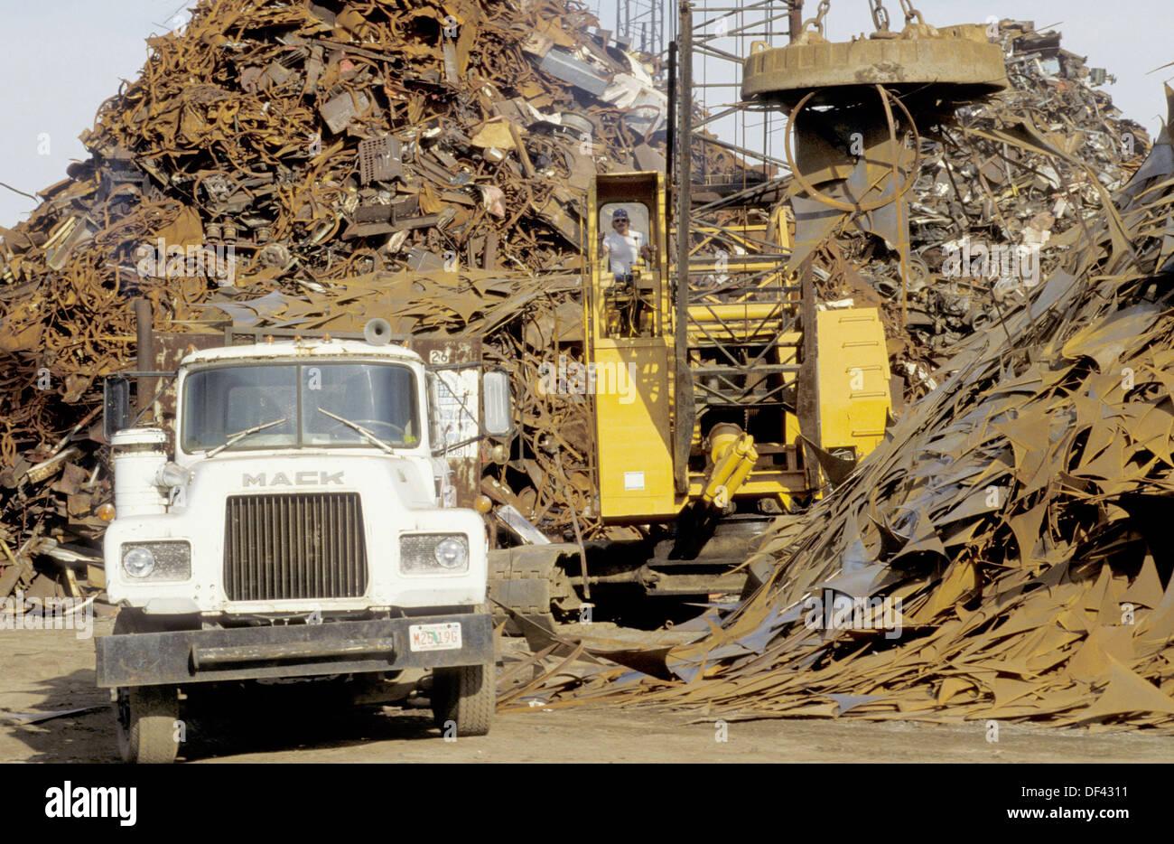 Recycling scrap metal. Tampa, Florida. USA. - Stock Image