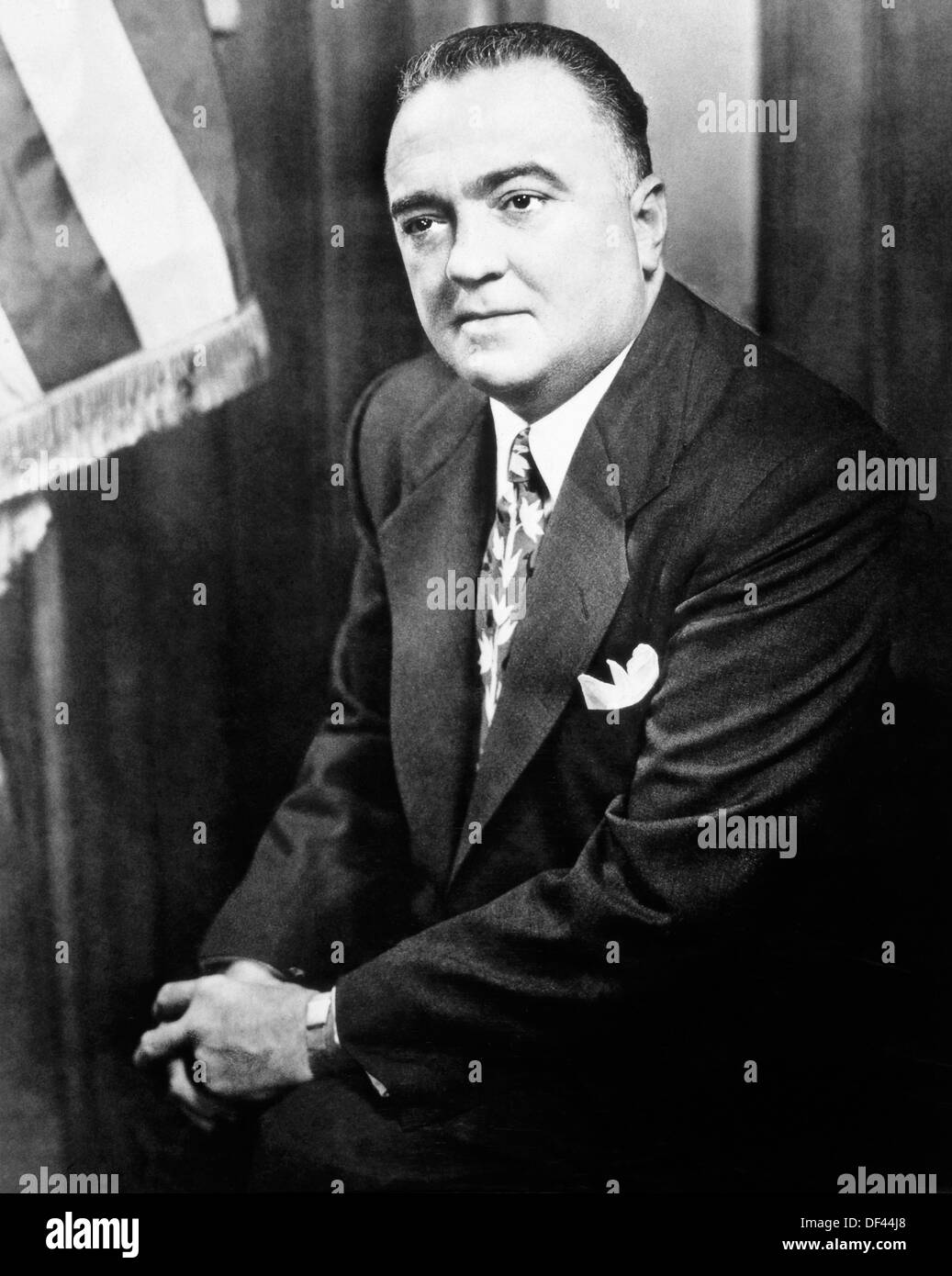 J. Edgar Hoover (1895-1972), FBI Director, Portrait, Circa 1950's - Stock Image