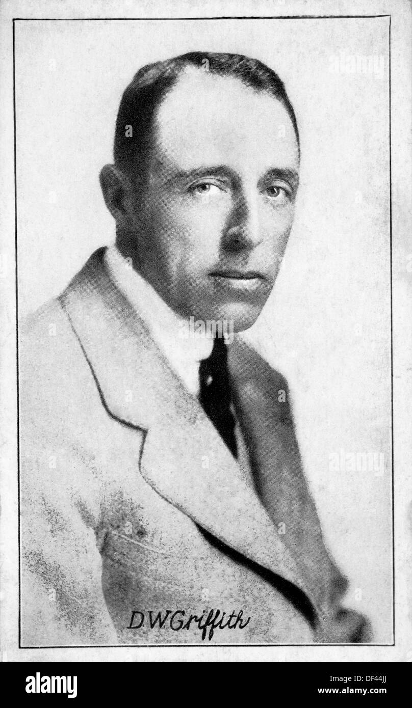 D.W. Griffith (1875-1948), American Silent Motion Picture Director and Producer, Portrait, Circa 1920's - Stock Image