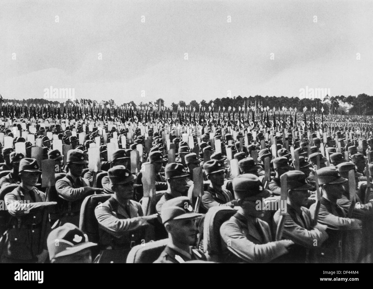 German Soldiers at the 'Rally of Freedom', Reichsparteitag der Freiheit, Nurnberg, Germany, 1935 - Stock Image