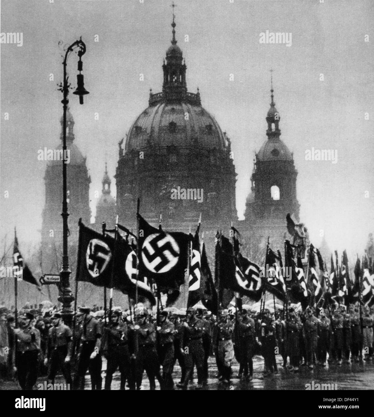 Nazi Funeral March, Berlin, Germany, January, 30, 1933 - Stock Image