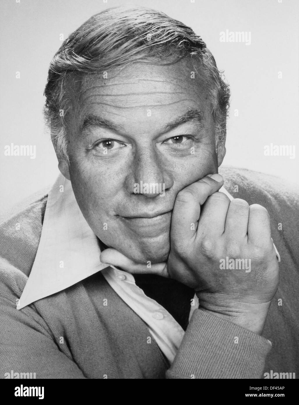George Kennedy, Studio Portrait, Circa 1970 - Stock Image