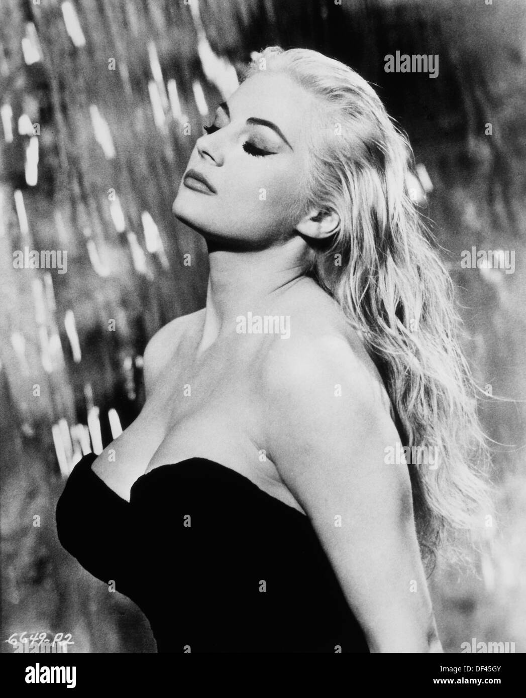 Anita Ekberg, on-set of the Film, 'La Dolce Vita', Riama Film, Pathe Consortium Cinema, 1960 - Stock Image