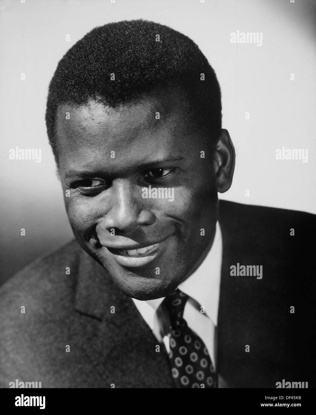 Sidney Poitier, Portrait, On-Set of the Film, 'Guess Who's Coming to Dinner', 1967 - Stock Image