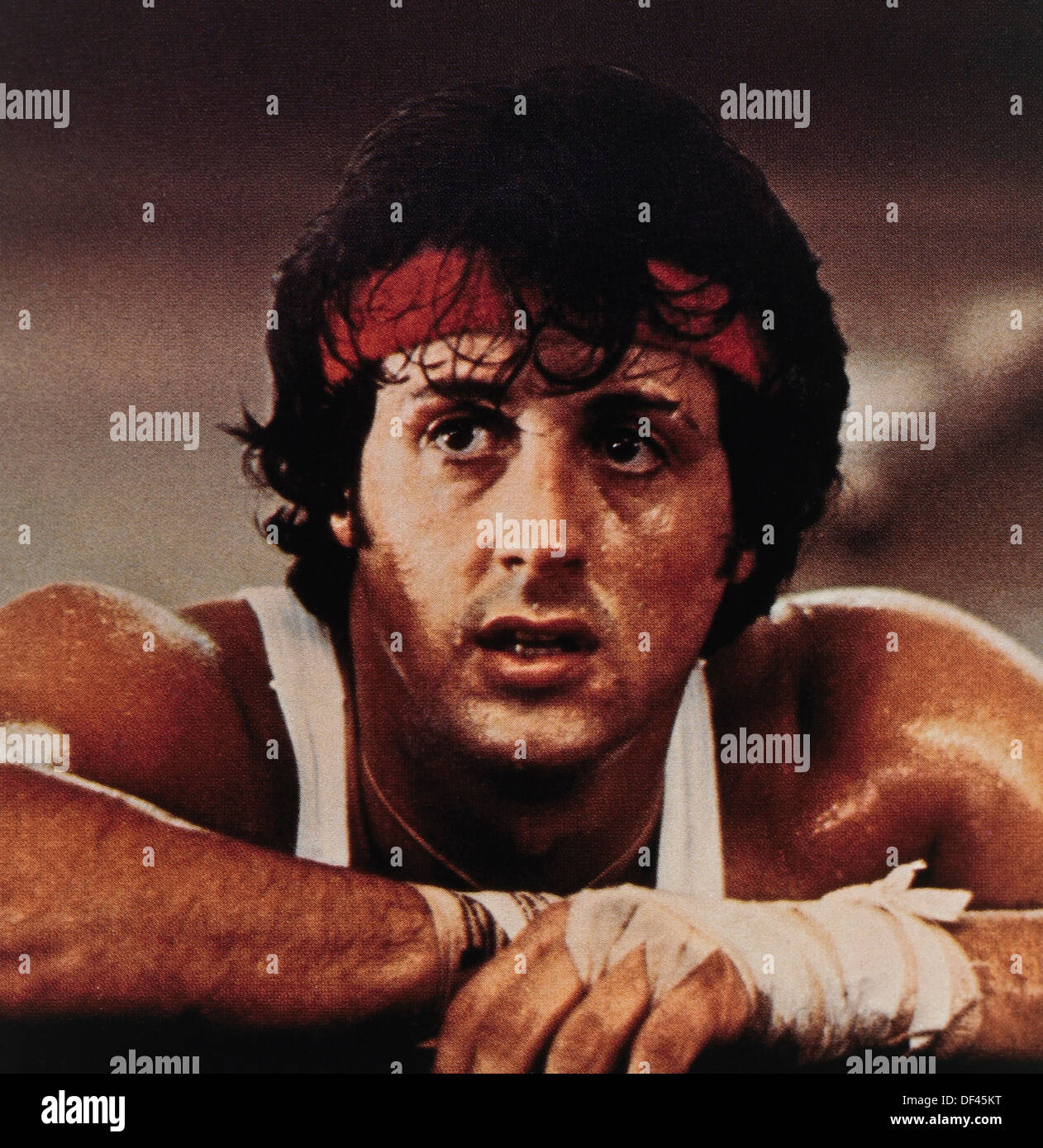 Sylvester Stallone, on-set of the Film, 'Rocky II', Chartoff-Winkler Productions, United Artists, 1979 - Stock Image