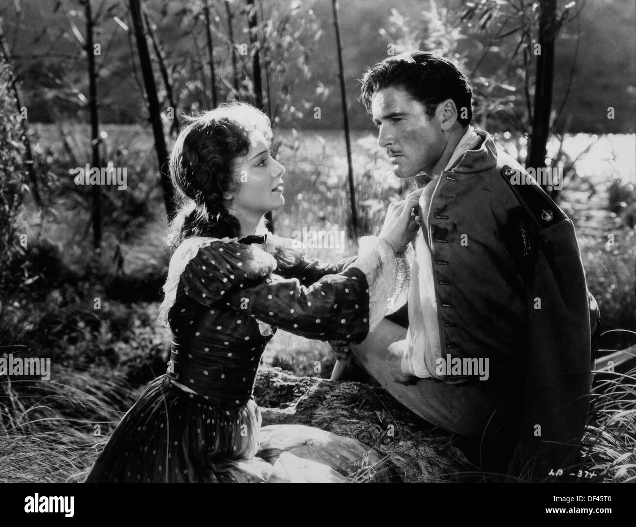 Olivia de Havilland and Errol Flynn, On-Set of the Film, 'The Charge of the Light Brigade', 1936 - Stock Image
