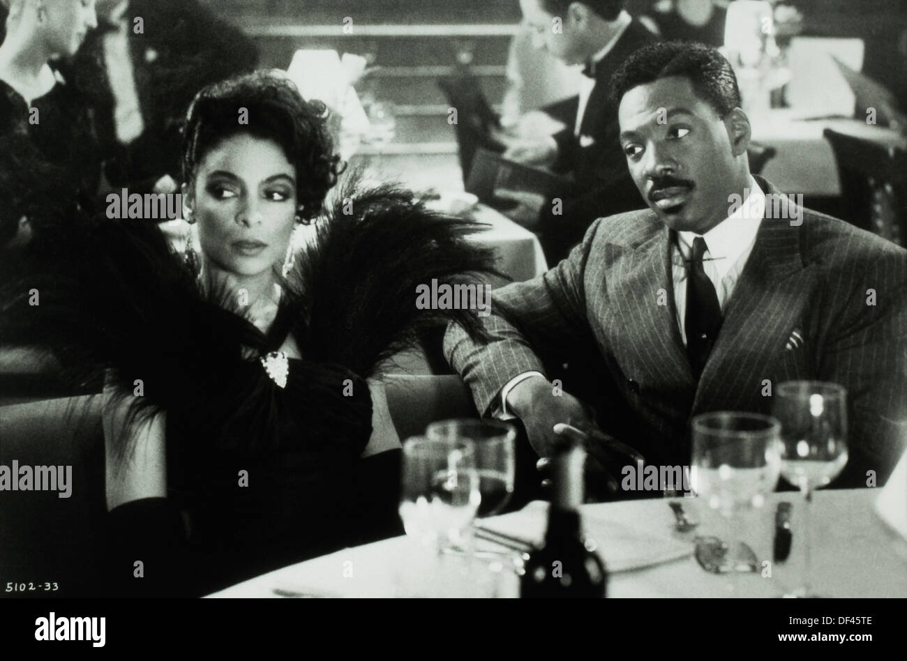 Eddie Murphy and Jasmine Guy, On-Set of the Film, 'Harlem Nights', 1989 - Stock Image