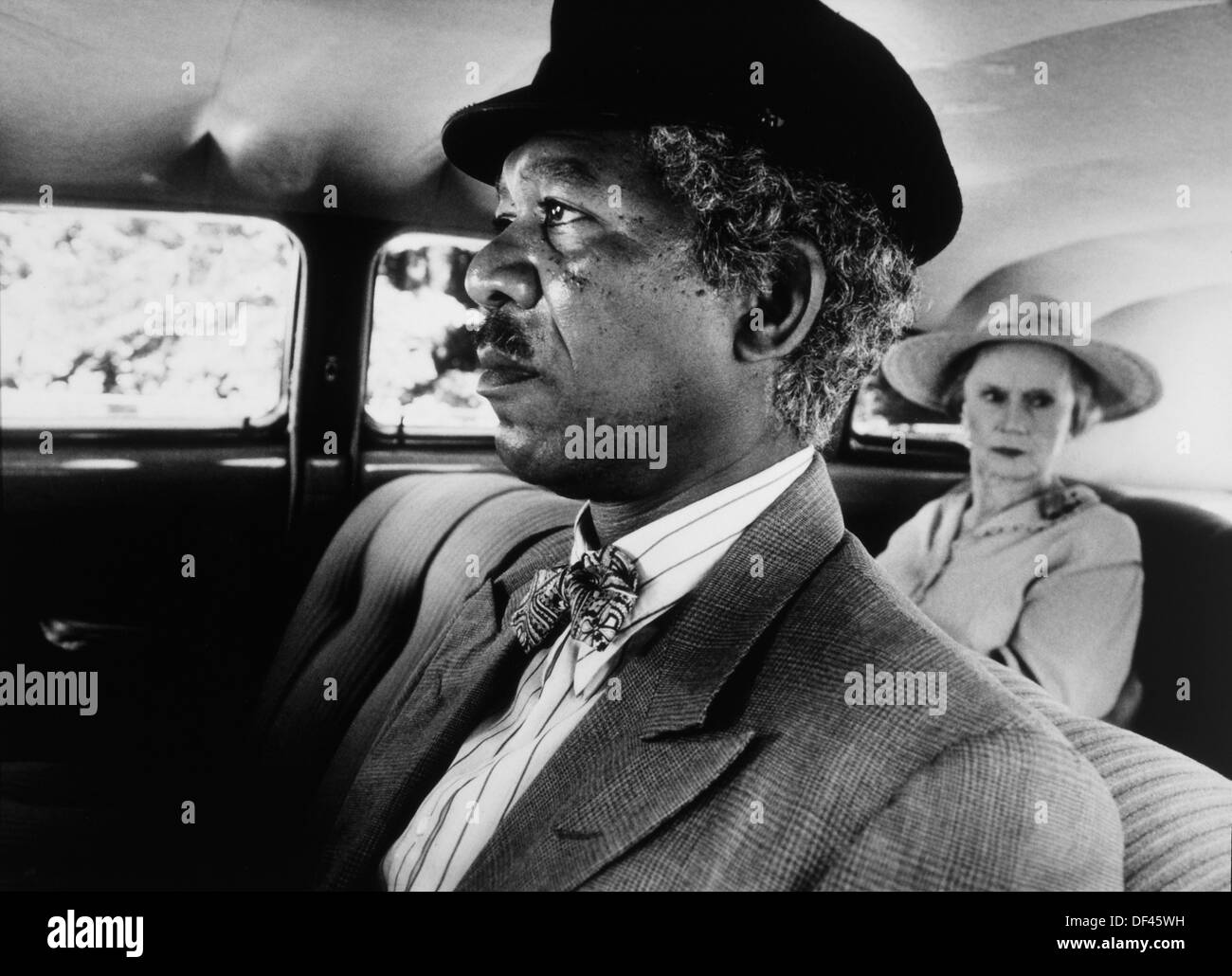 Morgan Freeman and Jessica Tandy, On-Set of the Film, 'Driving Miss Daisy', 1989 - Stock Image
