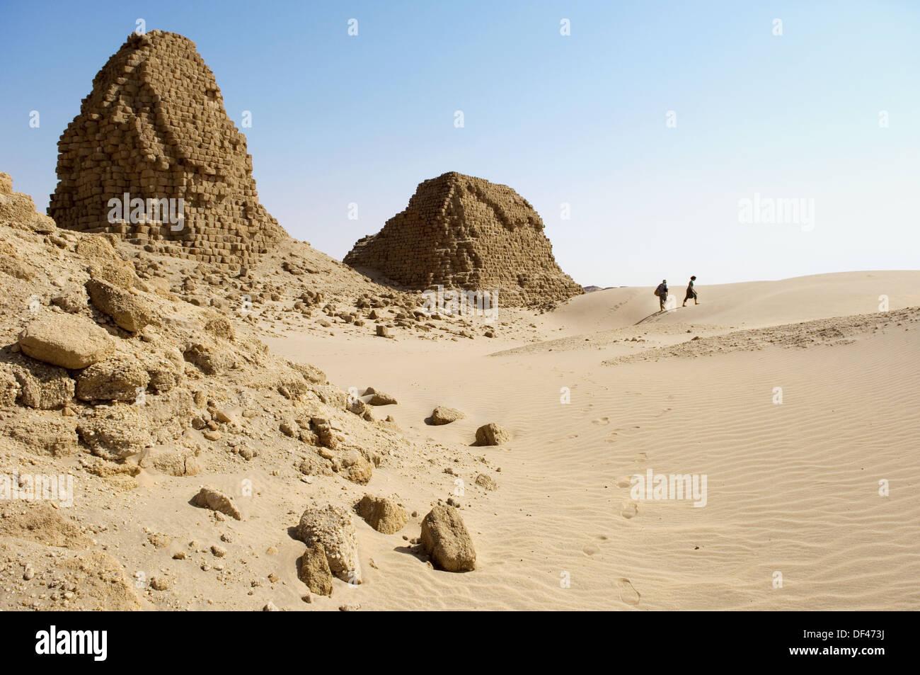 Pyramids of Nuri. Kingdom of Meroe. Sudan. Africa. Stock Photo