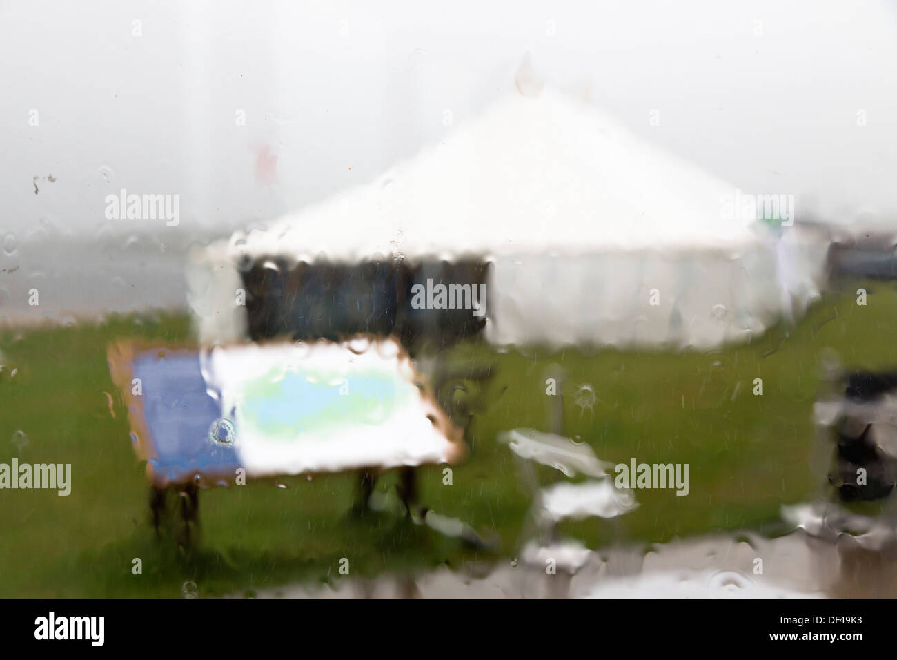 Stithians; Activity Day in the Rain; Cornwall; UK - Stock Image