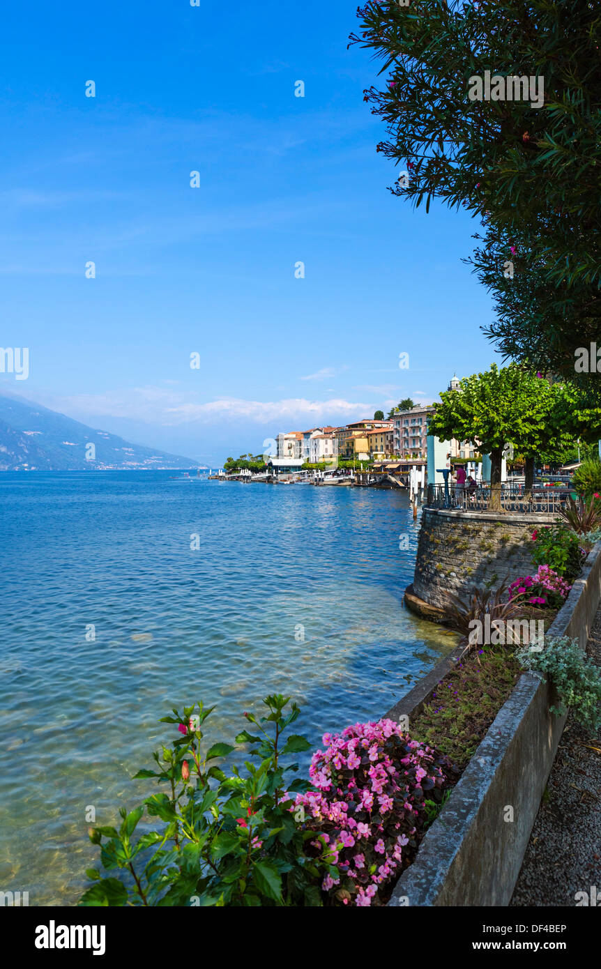 Lake Como. The lakefront in Bellagio, Italian Lakes, Lombardy, Italy - Stock Image