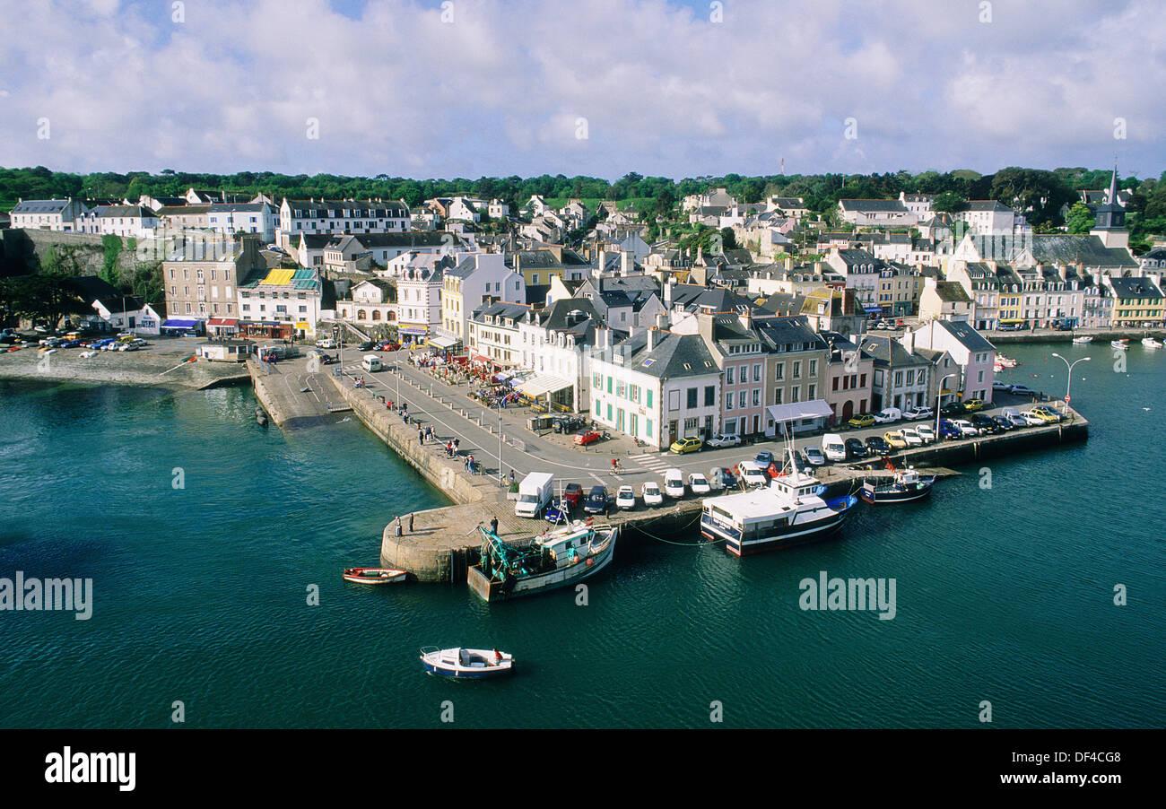 city of le palais capital island of belle le en mer morbihan stock photo 60948616 alamy. Black Bedroom Furniture Sets. Home Design Ideas