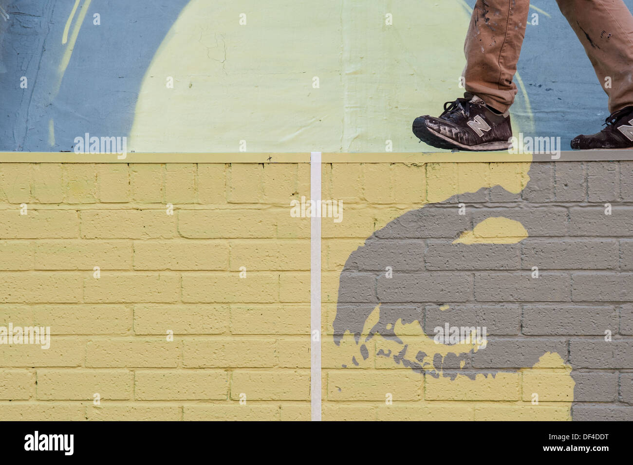 Twiggy. Street Art. Manchester. - Stock Image