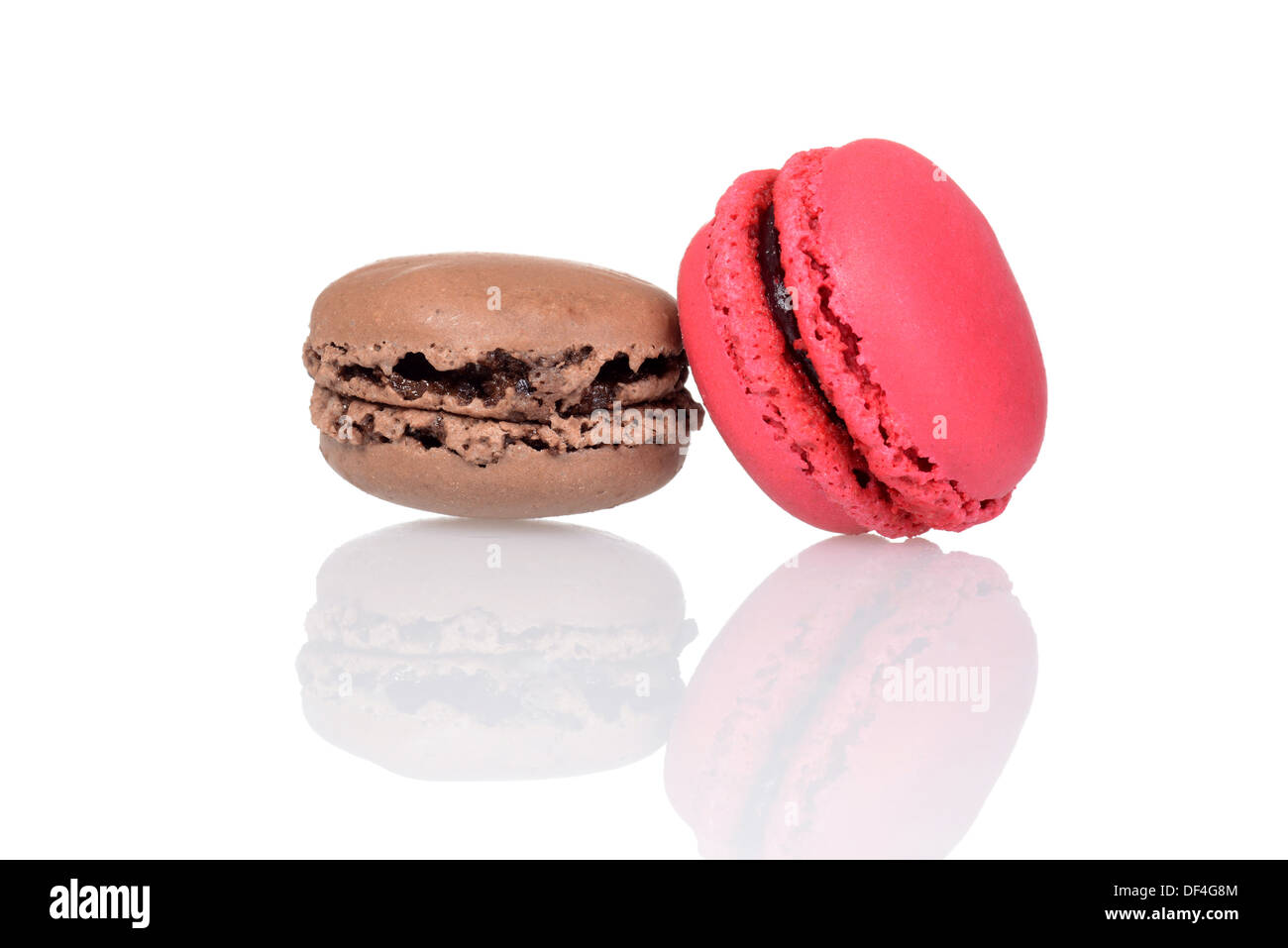 macaroons with reflection - Stock Image