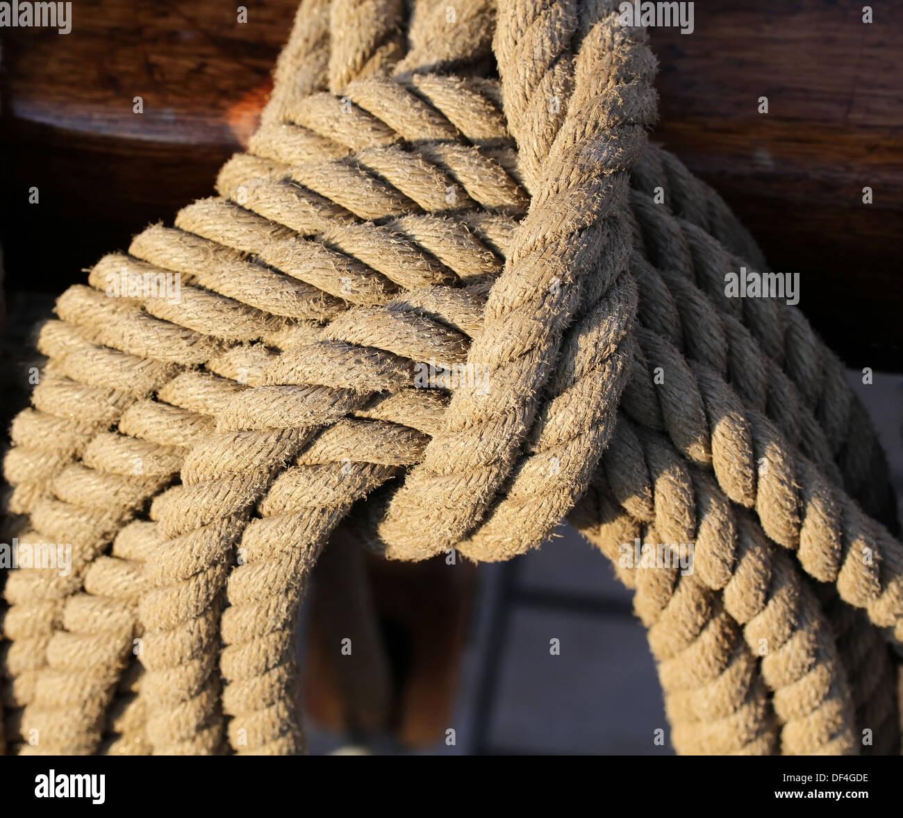 Ship ropes - Stock Image