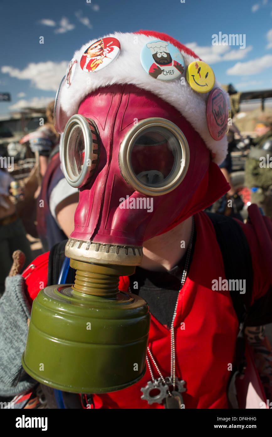 California City, CA, USA . 26th Sep, 2013. Wasteland Weekend Post-apocalyptic themed party Credit:  Ross Way/Alamy Live News - Stock Image