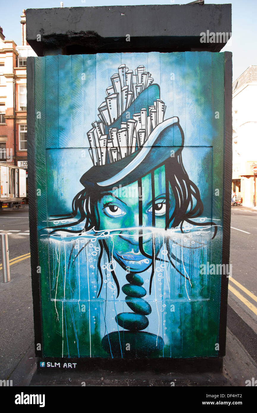 SLM Art. Northern Quarter. Manchester. Stock Photo