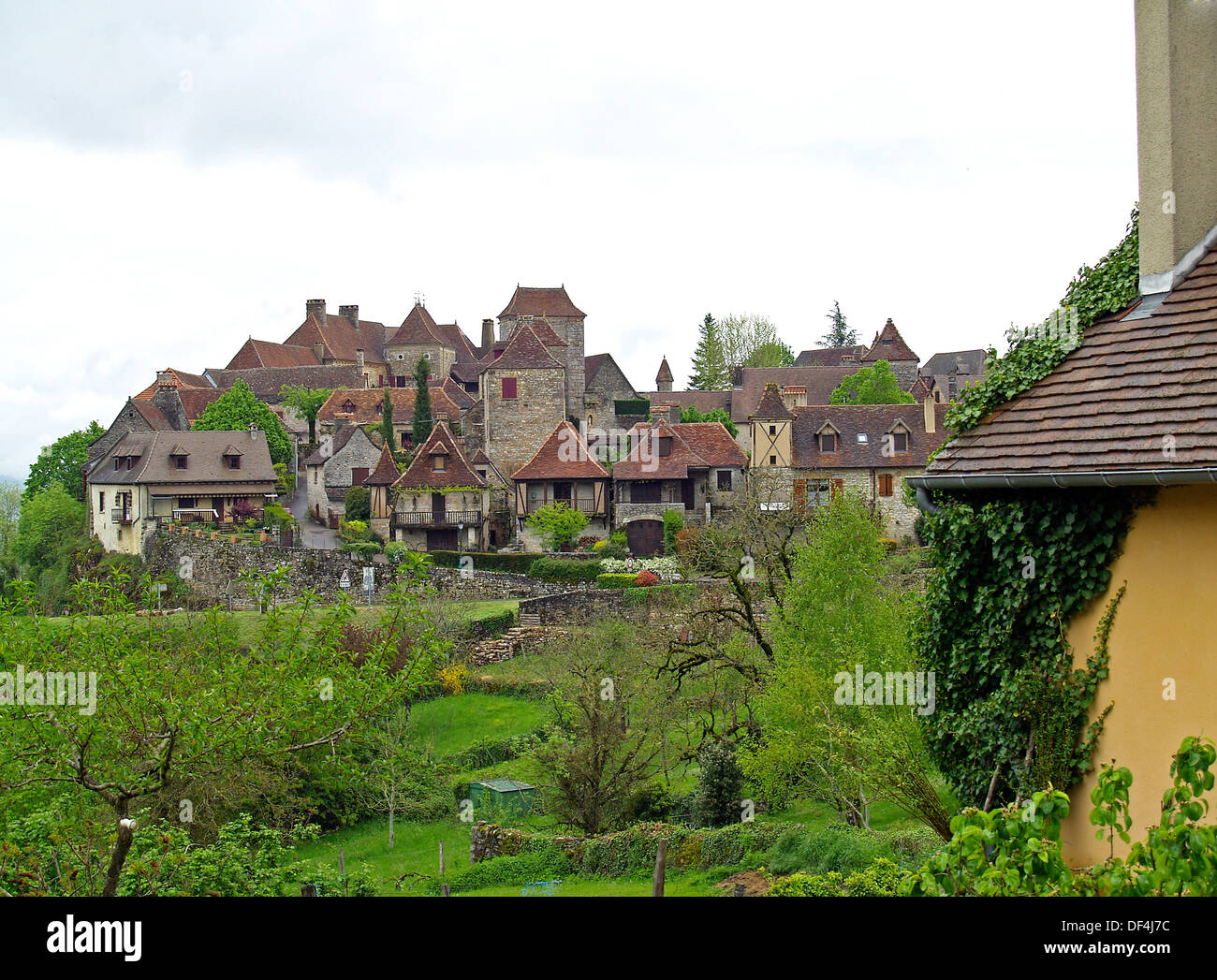 The prettiest village in France,Loubressac - Stock Image
