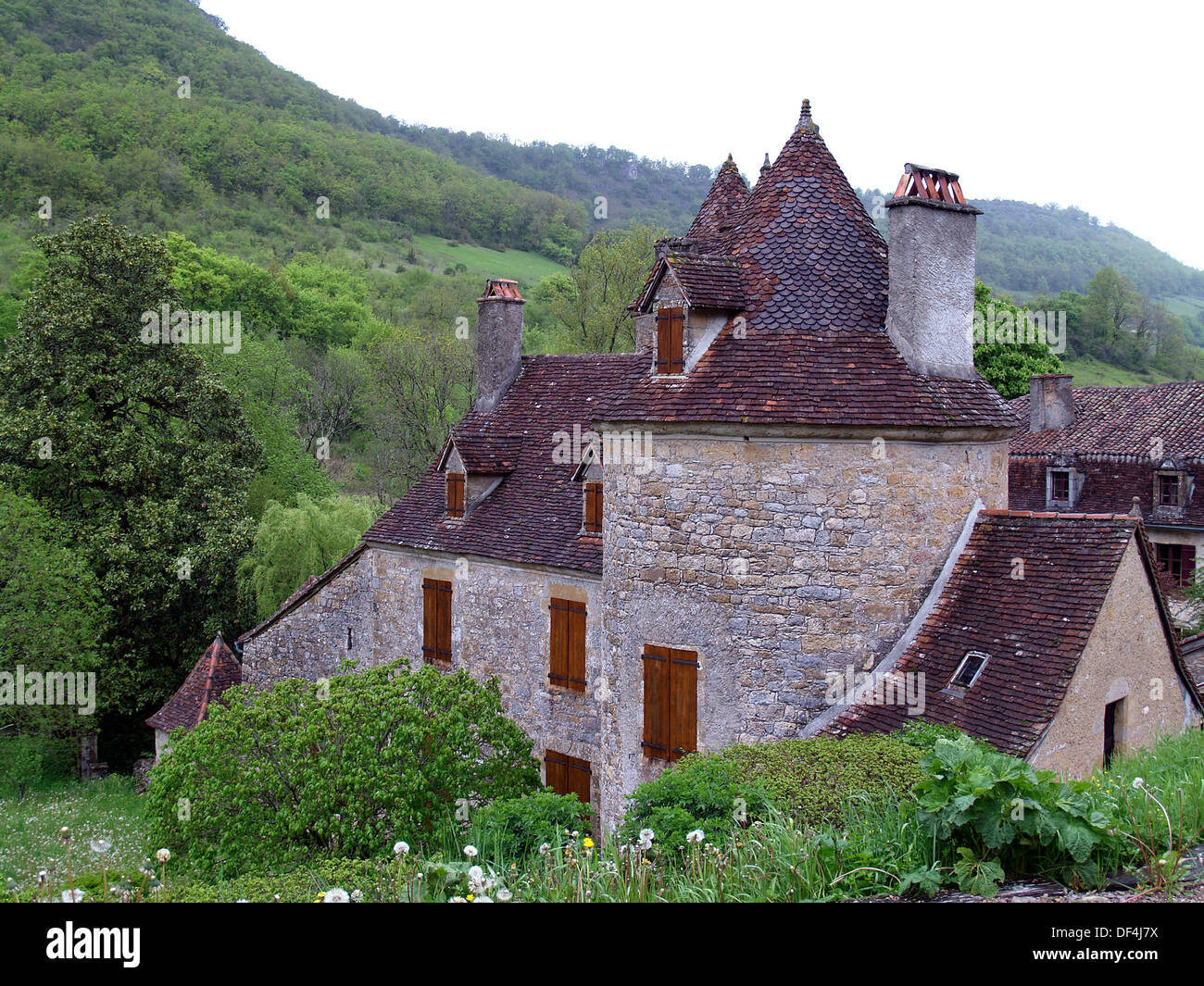 The prettiest village of Autoire,France - Stock Image