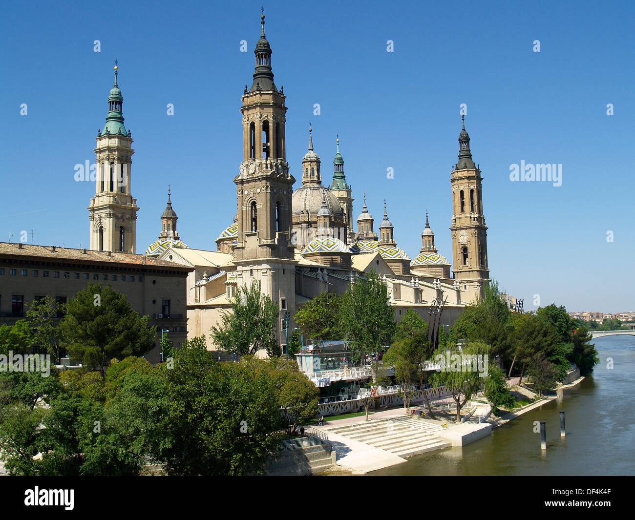 The Basilica of El Pilar,Zaragoza,Spain - Stock Image