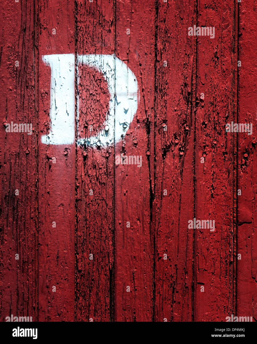 D,a colorful editorial image of a rail road box car, at the Durango & Silverton rail road yard,Durango Colorado - Stock Image
