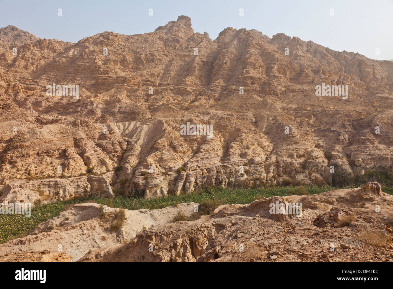 Canyon in Fifa, Dead Sea, Rift Valley Jordan, Middle East. - Stock Image