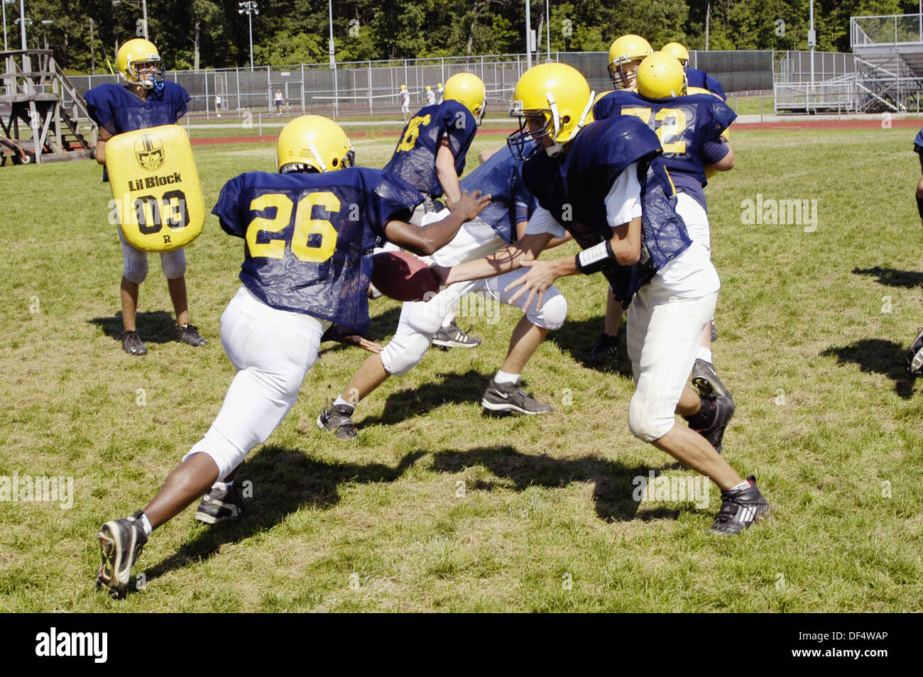High School Football Practice Action Stock Photo 60958654