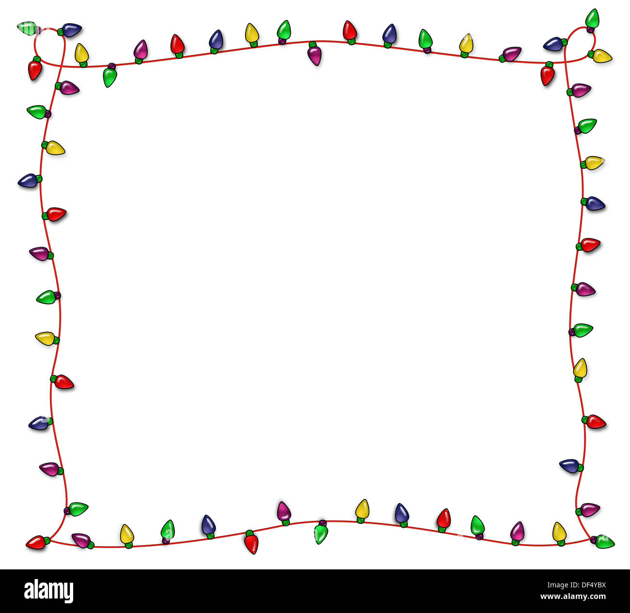 Colorful Cute Frame of Christmas Lights Stock Photo: 60960254 - Alamy
