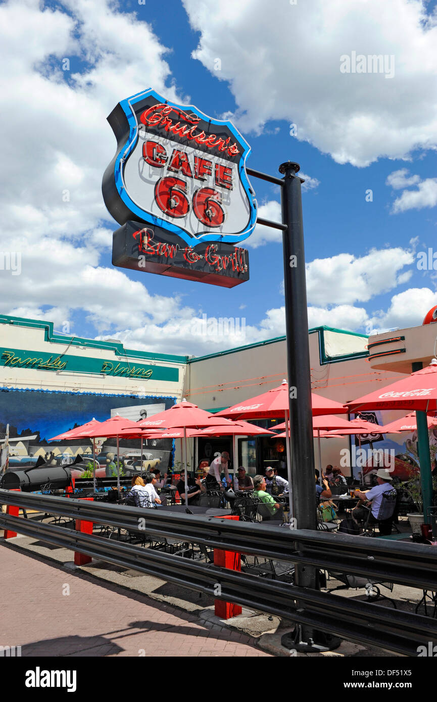 Cruisers Route 66 Cafe Williams Arizona Gateway to the Grand Canyon - Stock Image