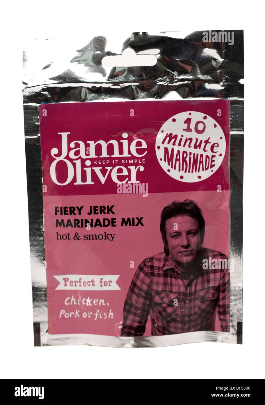 Sachet of Jamie Oliver 10 minute marinade - Stock Image