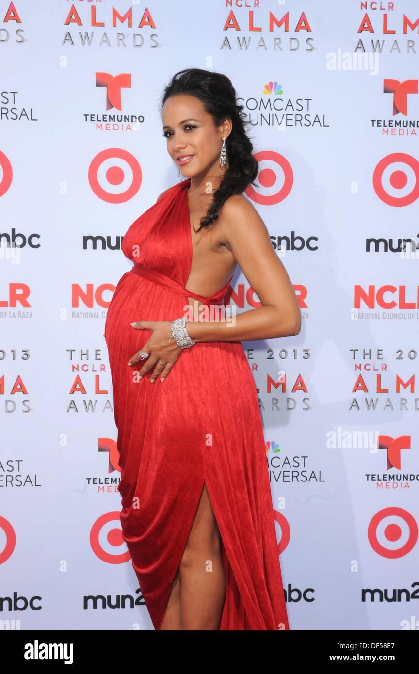 Pasadena, CA. 27th Sep, 2013. Dania Ramirez at arrivals for The 2013 NCLR ALMA Awards, Pasadena Civic Auditorium, Stock Photo