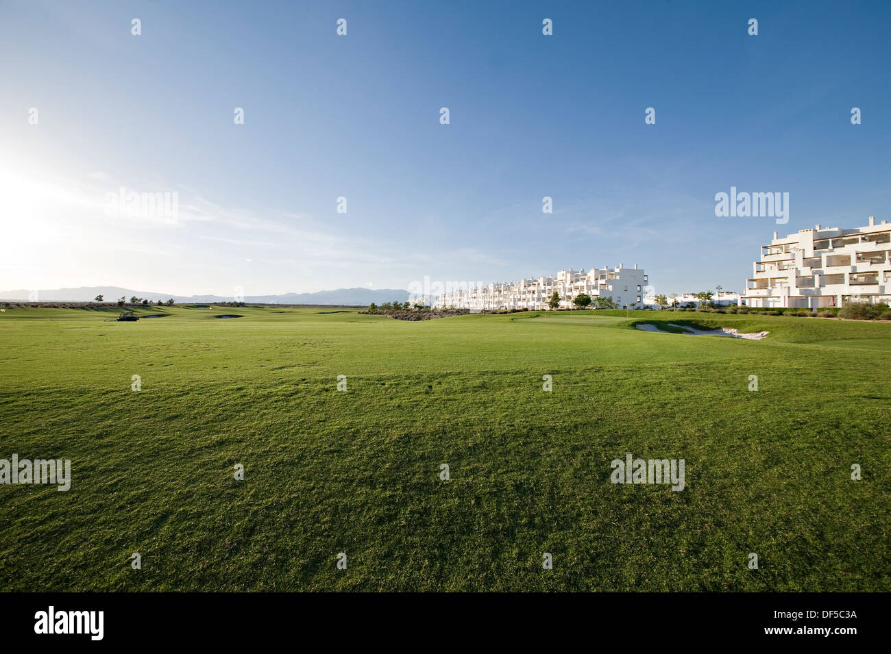 A Golf course from tee off green - Stock Image