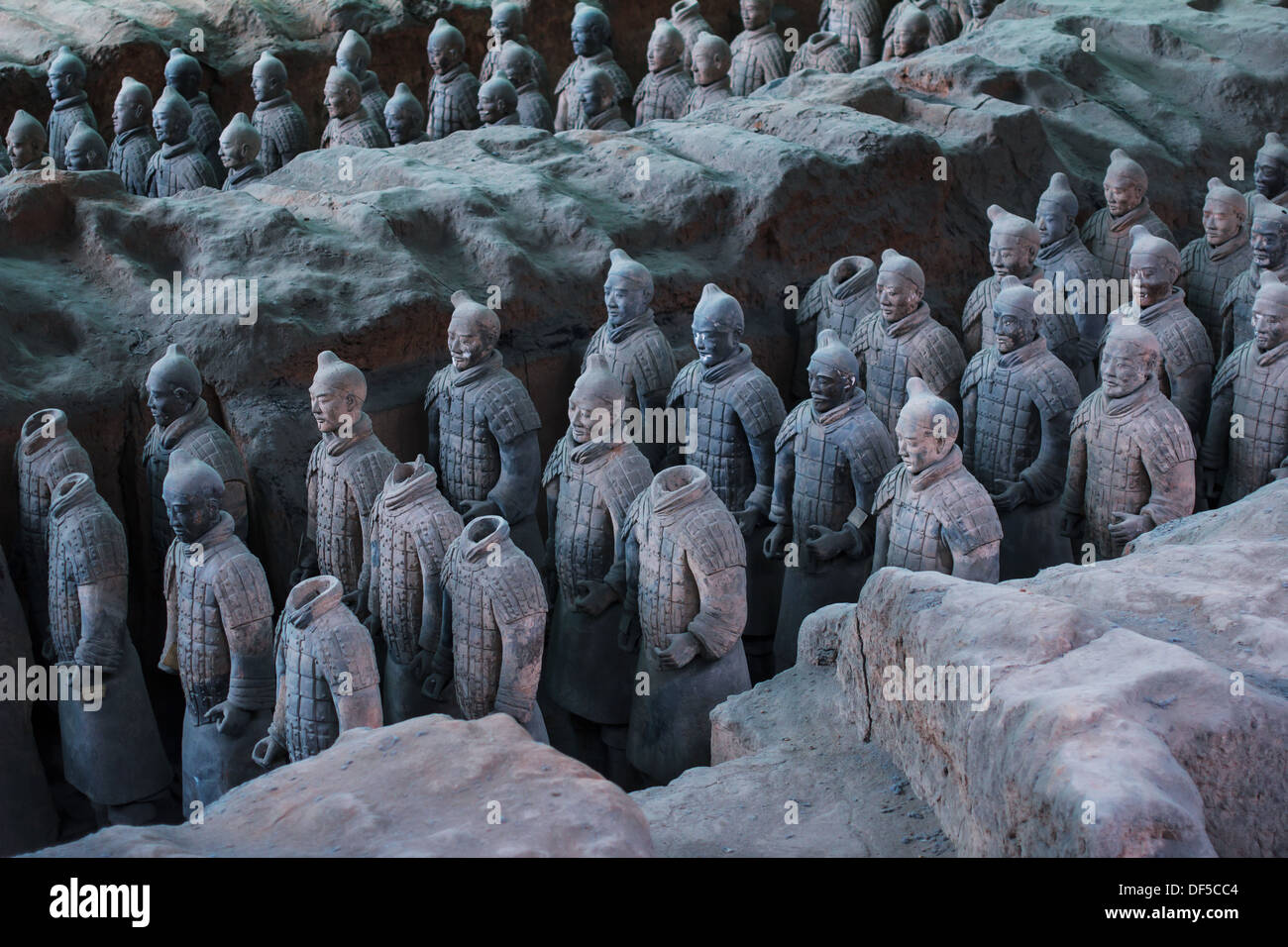 Terra Cotta Warriors,one of the wonders of the world,in Xi'an of China - Stock Image
